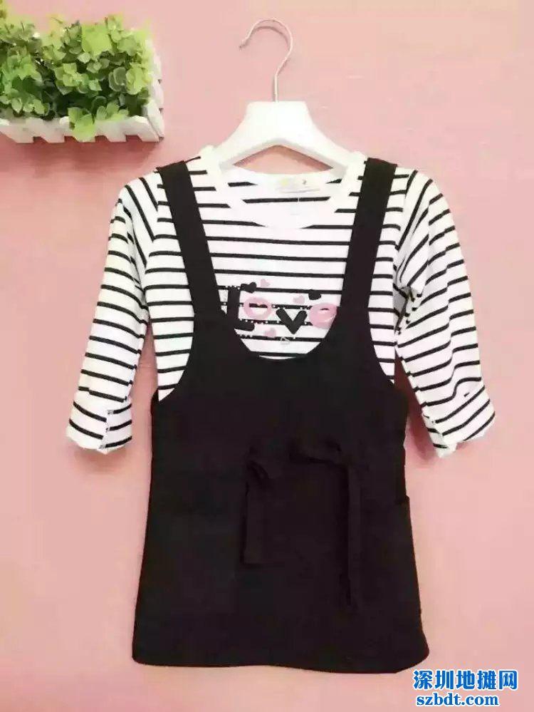 2016秋季服装货源女童韩版背带裙